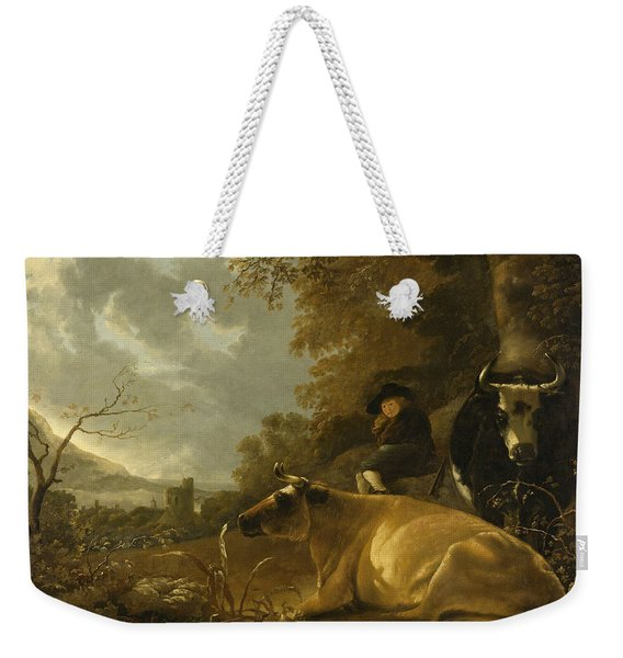 Landscape With Cows And A Shepherd Boy Weekender Tote Bag