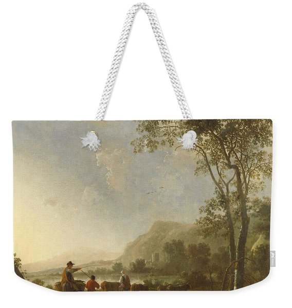 Landscape With Herdsmen And Cattle Weekender Tote Bag