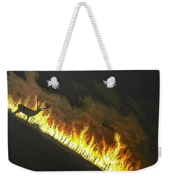 Weekender Tote Bag featuring the painting Last Look Back Home by Kevin Daly