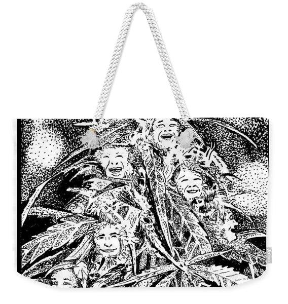 Laughing Grass Bw Weekender Tote Bag