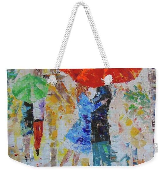 Les Amoureux A Paris Weekender Tote Bag