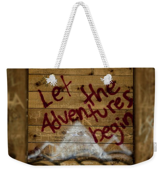 Let The Adventures Begin Weekender Tote Bag