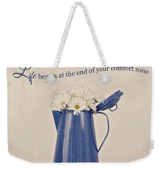 Comfort Zone Weekender Tote Bag