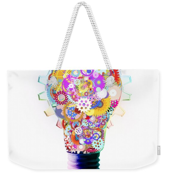 Light Bulb Design By Cogs And Gears  Weekender Tote Bag
