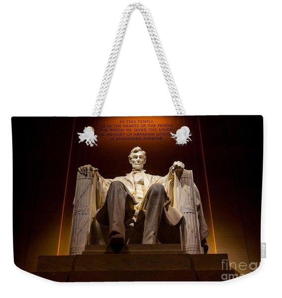 Lincoln Memorial At Night - Washington D.c. Weekender Tote Bag