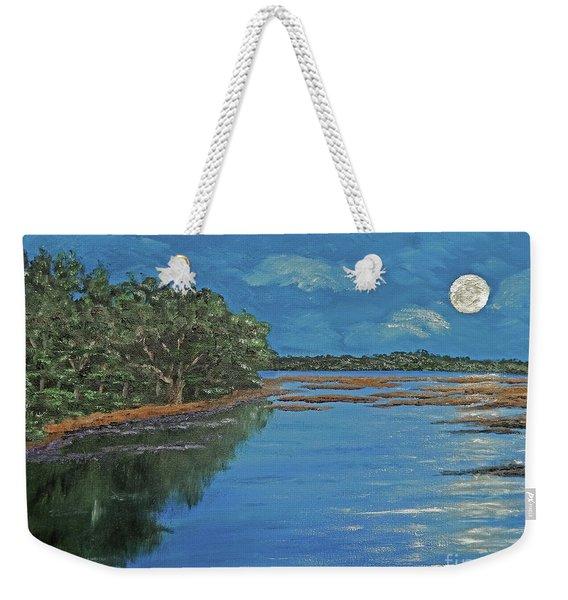 Lowcountry Moon Weekender Tote Bag
