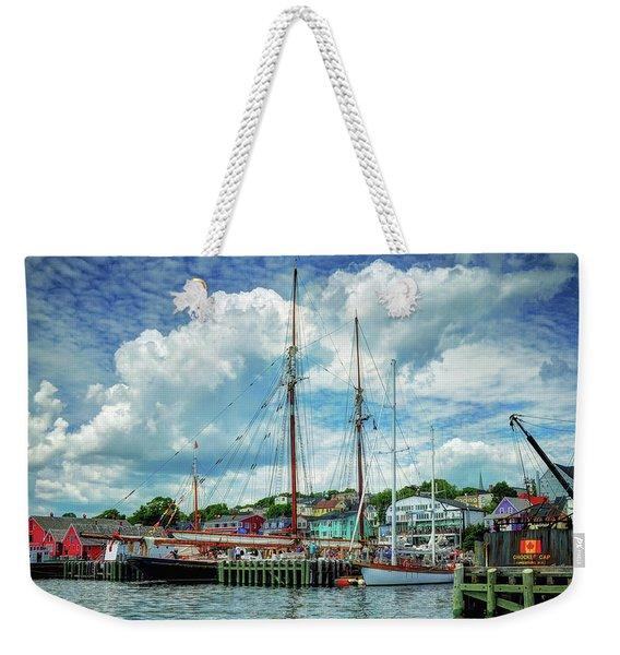 Lunenburg Harbor Weekender Tote Bag