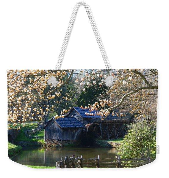 Mabry Mill In Spring Weekender Tote Bag