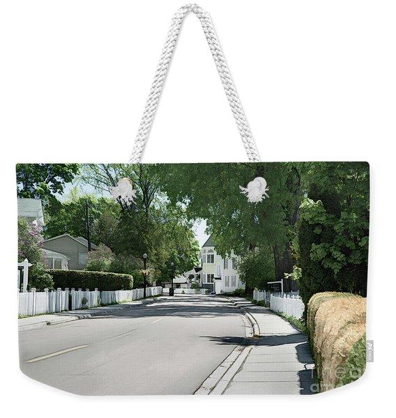 Mackinac Island Street  Weekender Tote Bag