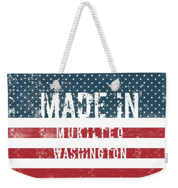 Made In Mukilteo, Washington Weekender Tote Bag