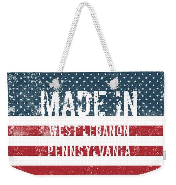 Made In West Lebanon, Pennsylvania Weekender Tote Bag