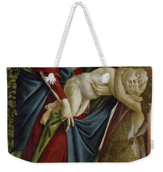 Madonna And Child And The Young St John The Baptist Weekender Tote Bag