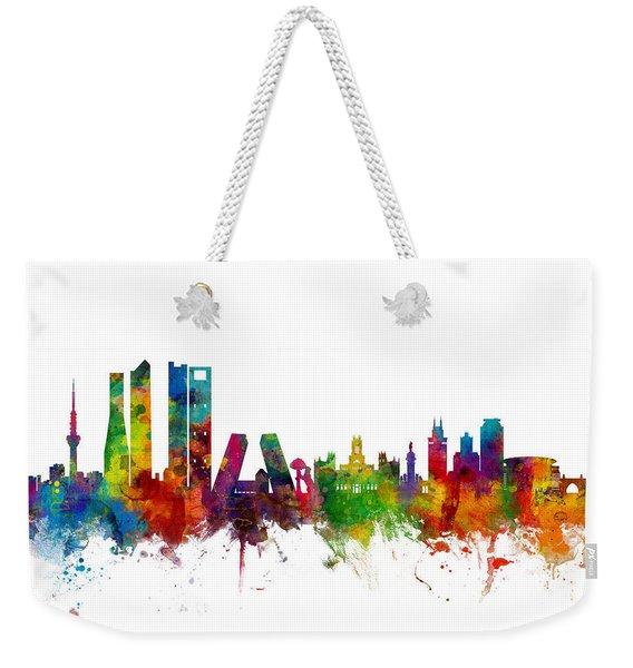 Madrid Spain Skyline Weekender Tote Bag