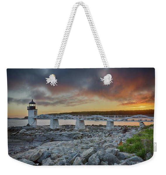 Marshall Point Lighthouse At Sunset, Maine, Usa Weekender Tote Bag