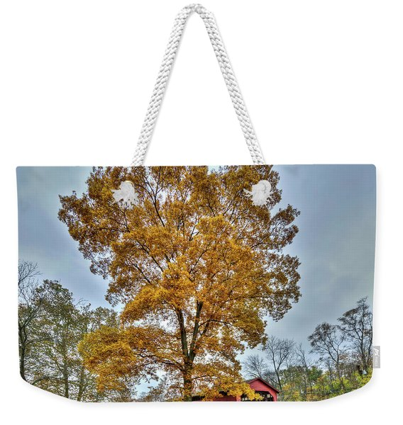 Maryland Covered Bridge In Autumn Weekender Tote Bag