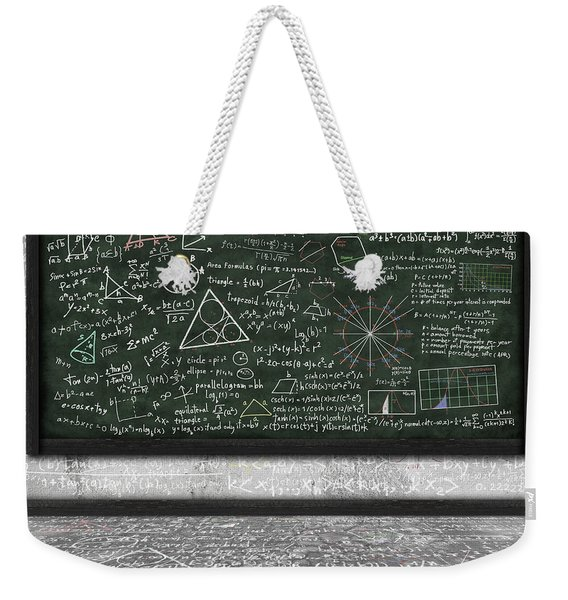 Maths Formula On Chalkboard Weekender Tote Bag