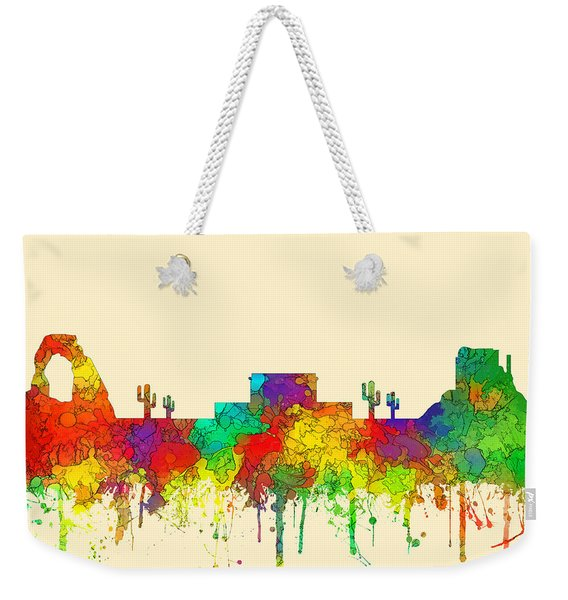 Mesa Arizona Skyline Weekender Tote Bag