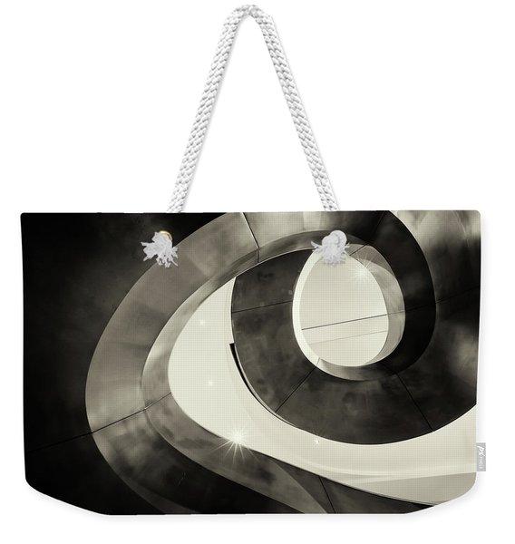 Abstract Metal Spiral Staircase Weekender Tote Bag