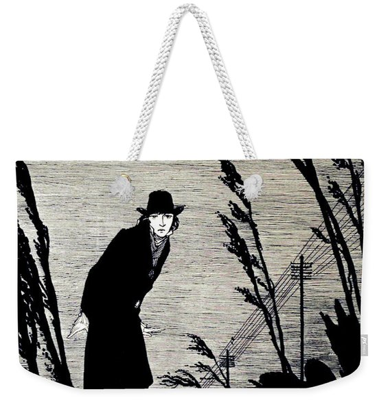 Midst Of All Was A Cold White Face Weekender Tote Bag