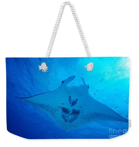 Midway Atoll, Manta Ray Weekender Tote Bag