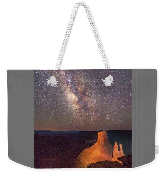 Milky Way At Marlboro Point Weekender Tote Bag