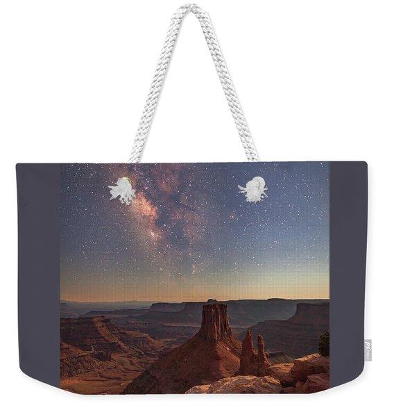 Milky Way At Twilight - Marlboro Point Weekender Tote Bag