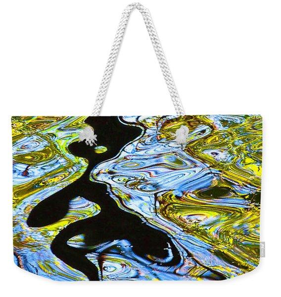 Mill Pond Reflection Weekender Tote Bag
