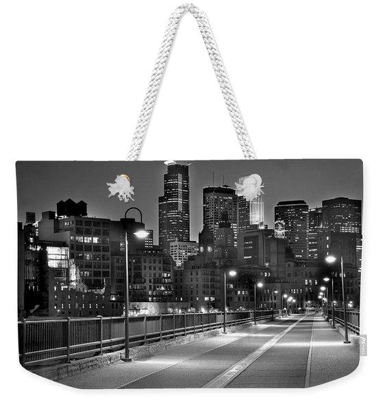 Minneapolis Skyline From Stone Arch Bridge Weekender Tote Bag