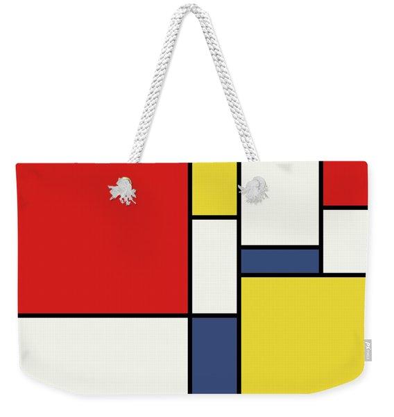 Mondrian Inspired Weekender Tote Bag