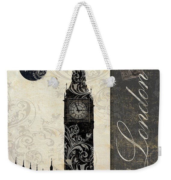 Moon Over London Weekender Tote Bag