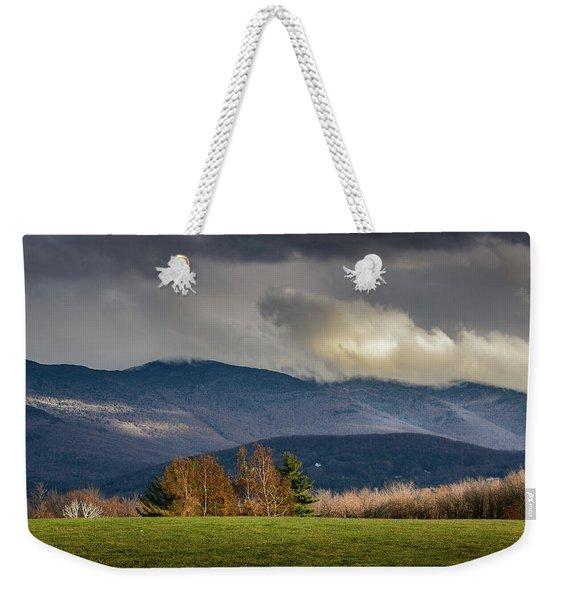 Mountain Weather Weekender Tote Bag