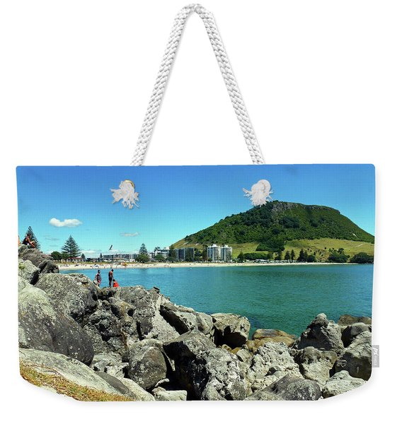 Mt Maunganui Beach 11 - Tauranga New Zealand Weekender Tote Bag