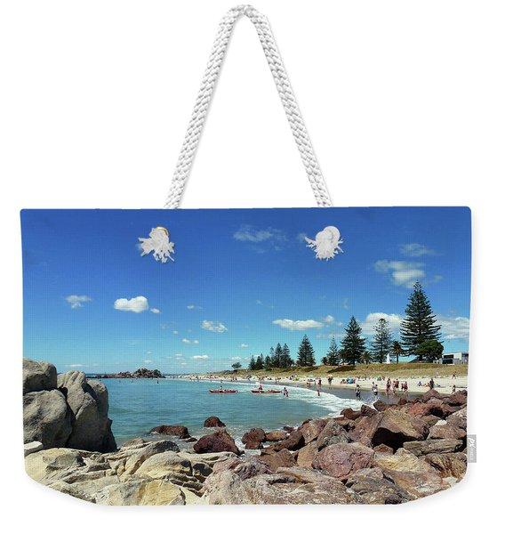 Mt Maunganui Beach 3 - Tauranga New Zealand Weekender Tote Bag