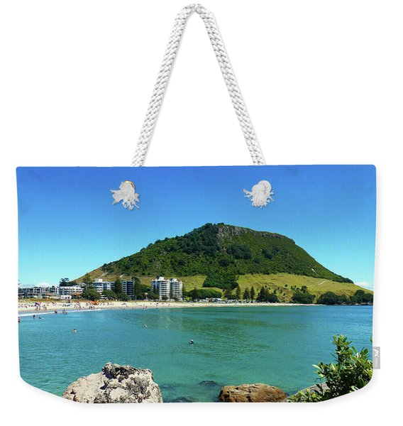 Mt Maunganui Beach 7 - Tauranga New Zealand Weekender Tote Bag
