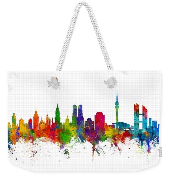 Munich Germany Skyline Weekender Tote Bag