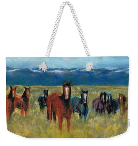 Mustangs In Southern Colorado Weekender Tote Bag