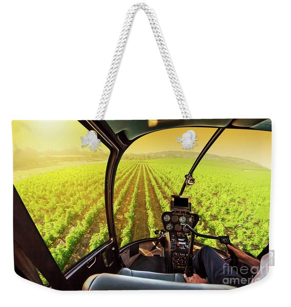 Weekender Tote Bag featuring the photograph Napa Valley Scenic Flight by Benny Marty