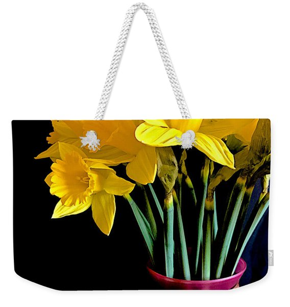 Narcissus Bouquet Weekender Tote Bag