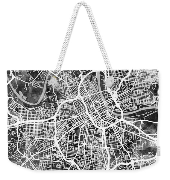 Nashville Tennessee City Map Weekender Tote Bag