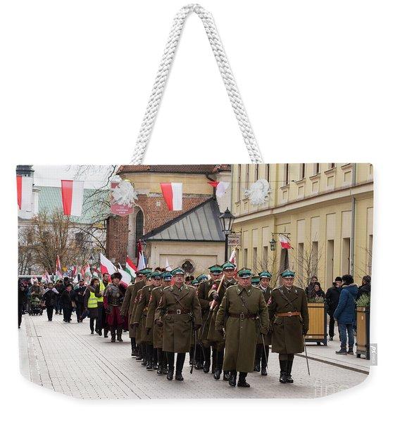 National Independence Day, Krakow, Poland 2017 Weekender Tote Bag