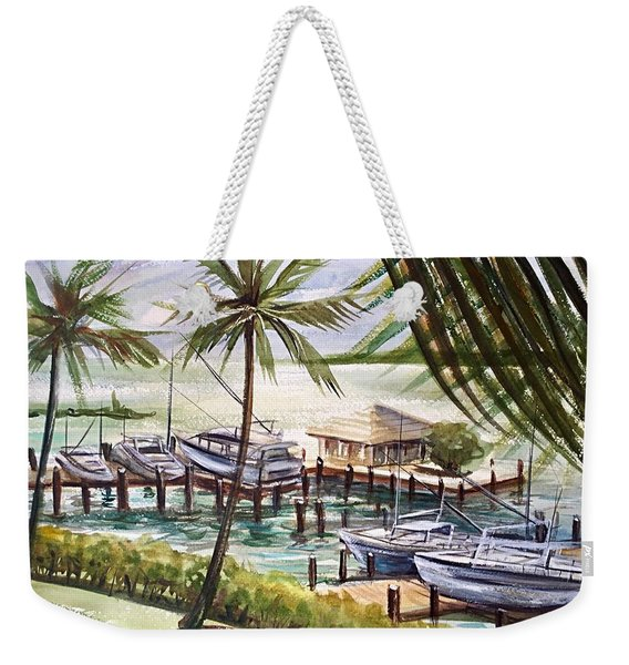 Near The Harbour Weekender Tote Bag