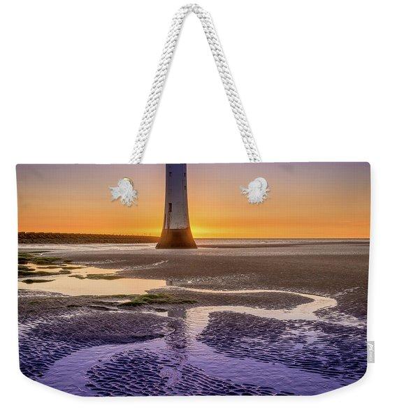 New Brighton Lighthouse Weekender Tote Bag