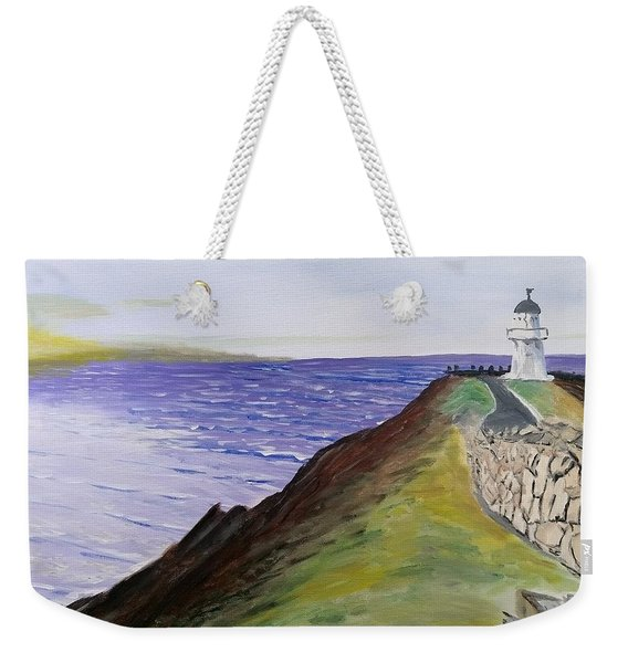 Weekender Tote Bag featuring the painting New Zealand Lighthouse by Kevin Daly