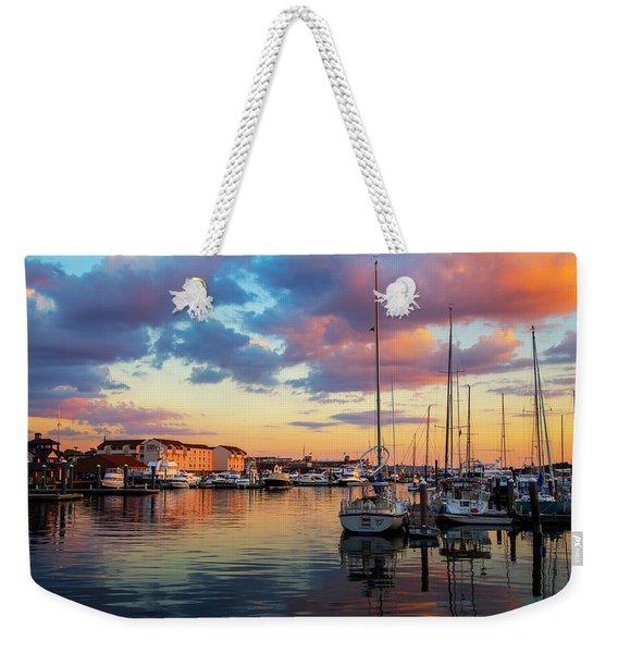 Newports Dusk Weekender Tote Bag