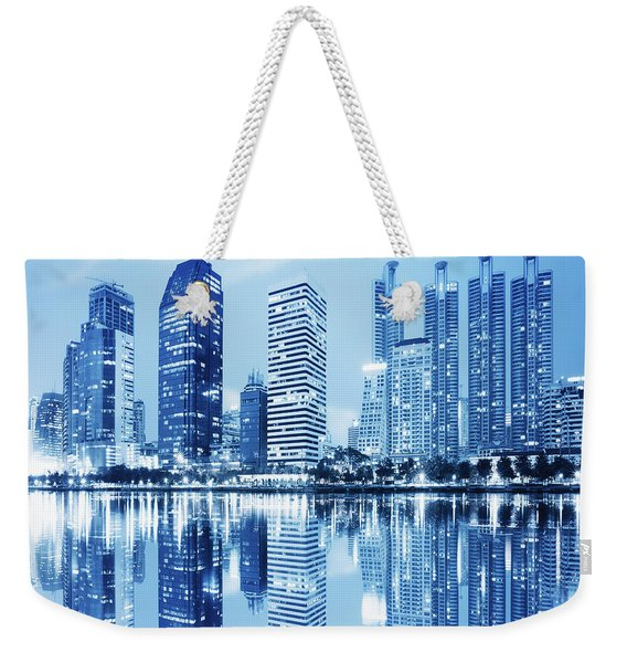 Night Scenes Of City Weekender Tote Bag