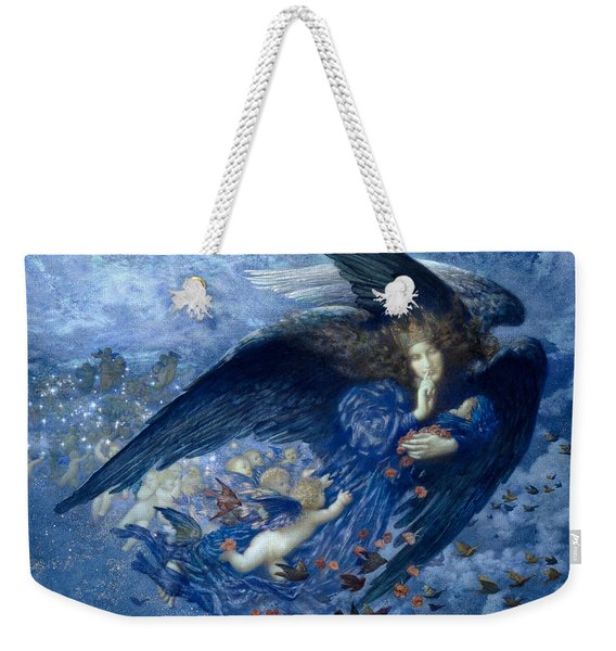 Night With Her Train Of Stars Weekender Tote Bag