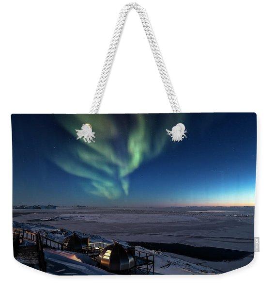 Northern Lights - Greenland Weekender Tote Bag