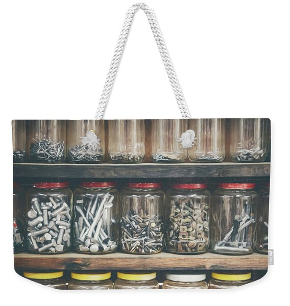 Nuts And Bolts And Bolts And Nuts Weekender Tote Bag