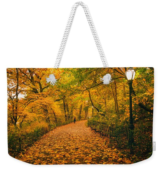Nyc Autumn Weekender Tote Bag