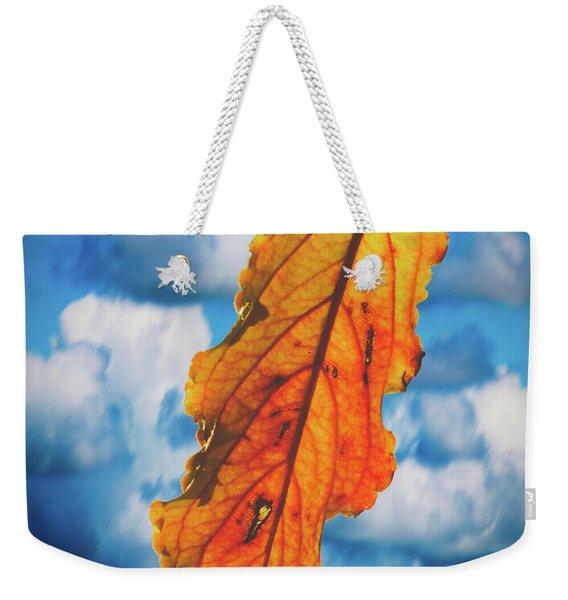 October Leaf B Fine Art Weekender Tote Bag
